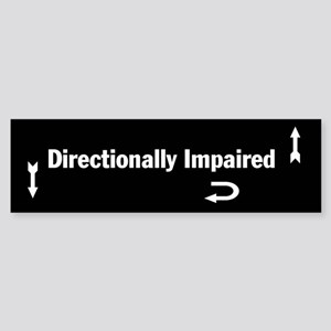 Directionally Impaired Bumper Sticker