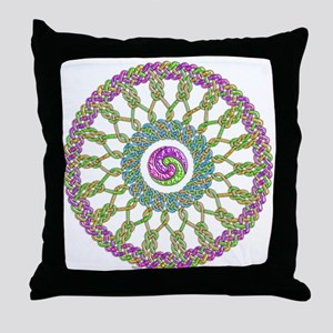 Celtic Spring-Easter Mandala Throw Pillow