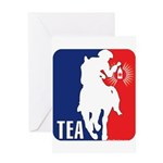 Tea Party Logo Greeting Card