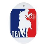 Tea Party Logo Oval Ornament