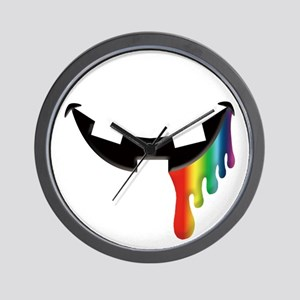 Juicy Rainbow Halloween Mouth Wall Clock