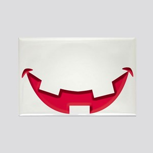 Smiley Halloween Mouth Red Rectangle Magnet