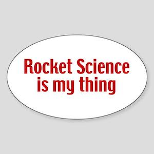 Rocket Science Sticker (Oval)