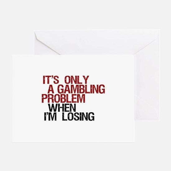 Gambling Problem Greeting Card