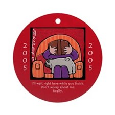 Pugs Support Books Ornament (Round)