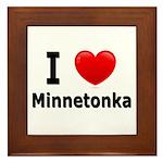 I Love Minnetonka Framed Tile