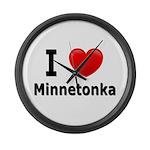I Love Minnetonka Large Wall Clock