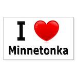 I Love Minnetonka Rectangle Sticker 50 pk)