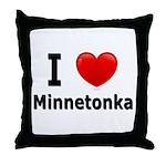 I Love Minnetonka Throw Pillow