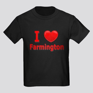 I Love Farmington Kids Dark T-Shirt