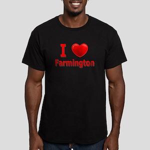 I Love Farmington Men's Fitted T-Shirt (dark)