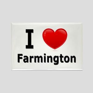 I Love Farmington Rectangle Magnet