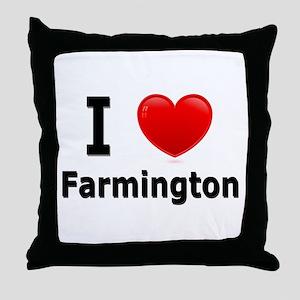 I Love Farmington Throw Pillow