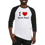 I Love Saint Paul Baseball Jersey