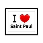 I Love Saint Paul Framed Panel Print