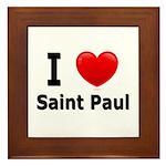 I Love Saint Paul Framed Tile