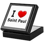 I Love Saint Paul Keepsake Box