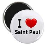I Love Saint Paul Magnet