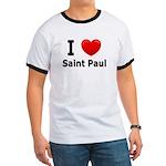 I Love Saint Paul Ringer T