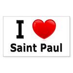 I Love Saint Paul Rectangle Sticker 50 pk)