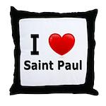 I Love Saint Paul Throw Pillow