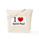I Love Saint Paul Tote Bag