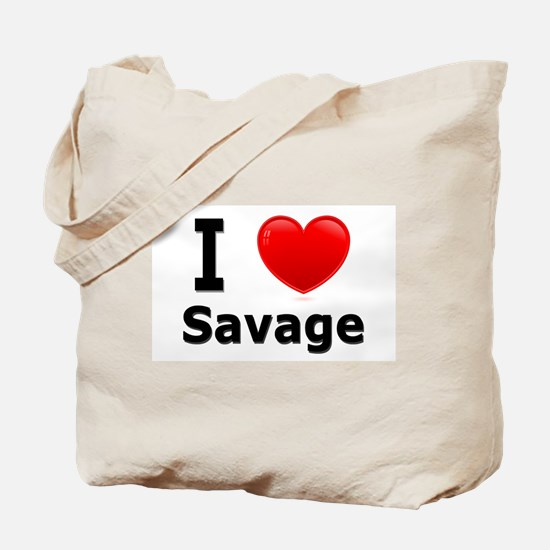 I Love Savage Tote Bag