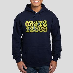 Numbers 0 thru 9 Hoodie (dark)