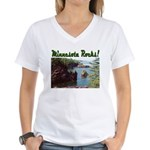 Minnesota Rocks! Women's V-Neck T-Shirt