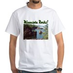 Minnesota Rocks! White T-Shirt