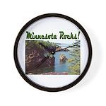 Minnesota Rocks! Wall Clock