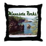 Minnesota Rocks! Throw Pillow