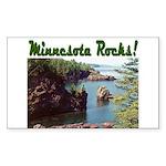 Minnesota Rocks! Rectangle Sticker