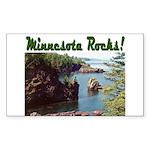 Minnesota Rocks! Rectangle Sticker 10 pk)