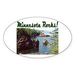 Minnesota Rocks! Oval Sticker (10 pk)