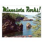 Minnesota Rocks! Small Poster