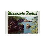 Minnesota Rocks! Rectangle Magnet (10 pack)