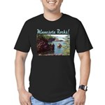 Minnesota Rocks! Men's Fitted T-Shirt (dark)