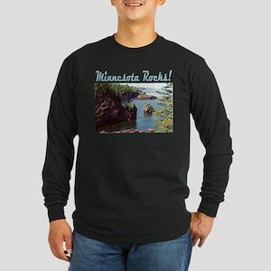 Minnesota Rocks! Long Sleeve Dark T-Shirt