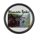 Minnesota Rocks! Large Wall Clock
