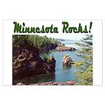 Minnesota Rocks! Large Poster