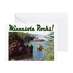 Minnesota Rocks! Greeting Cards (Pk of 20)