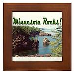 Minnesota Rocks! Framed Tile
