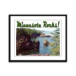Minnesota Rocks! Framed Panel Print