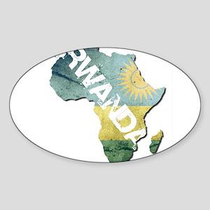 Rwanda Oval Sticker