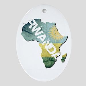 Rwanda Oval Ornament