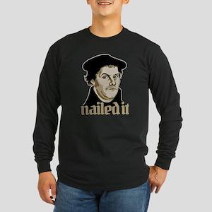 Nailed It Long Sleeve Dark T-Shirt