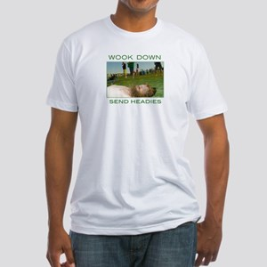 w00k down Fitted T-Shirt