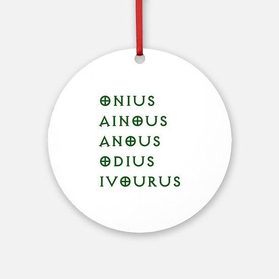 Onius Gentlemen Broncos Ornament (Round)