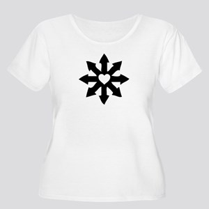 Chaos Heart Women's Plus Size Scoop Neck T-Shirt
